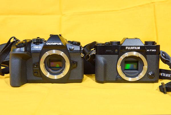 フジフィルムX-T20とオリンパス機1