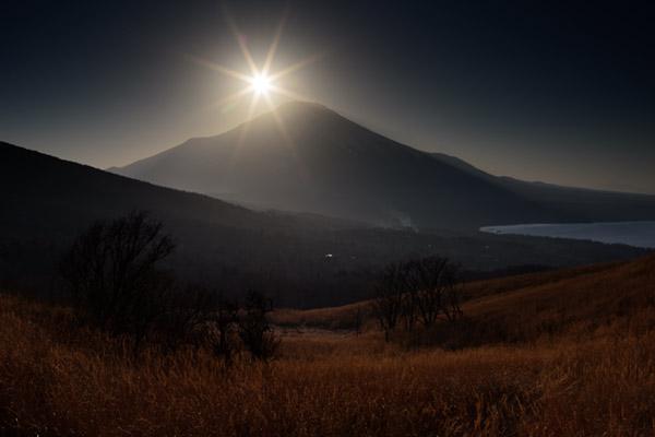 ソフトGND16で撮影した夕景と富士山