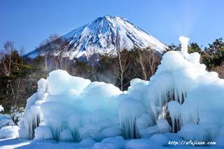 氷結と富士山